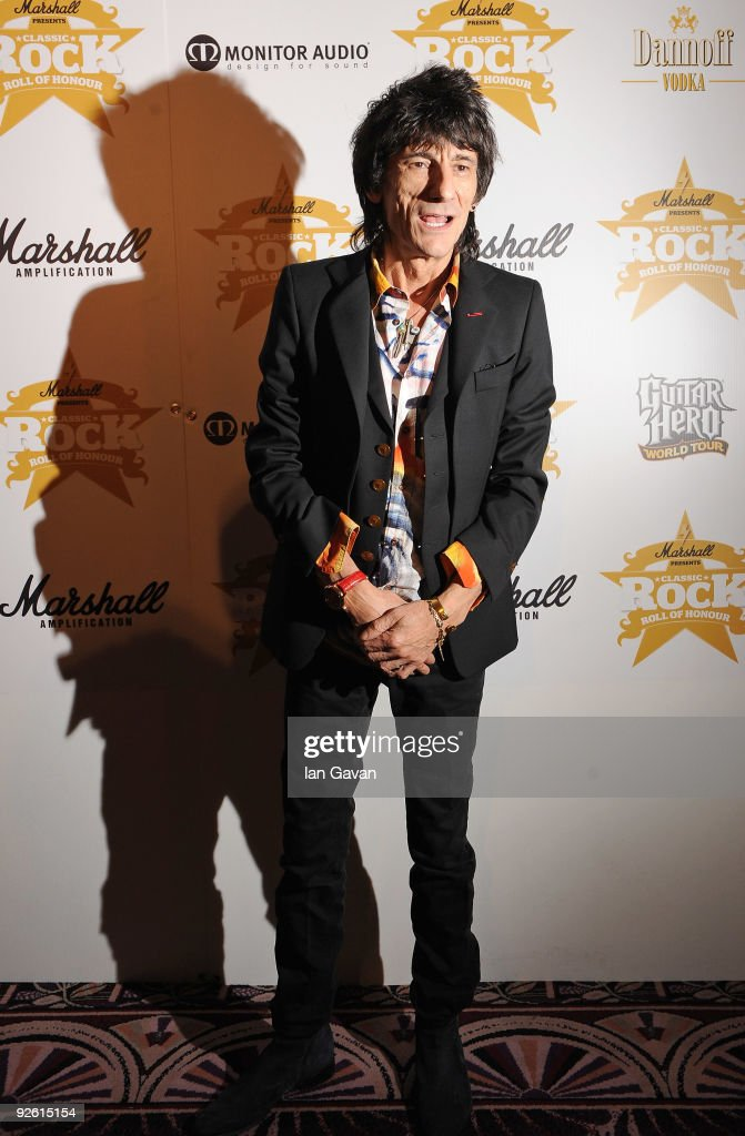 Ronnie Wood from the rock group the Rolling Stones attends the Classic Rock Roll Of Honour Awards at the Park Lane Hotel on November 2, 2009 in London, England.