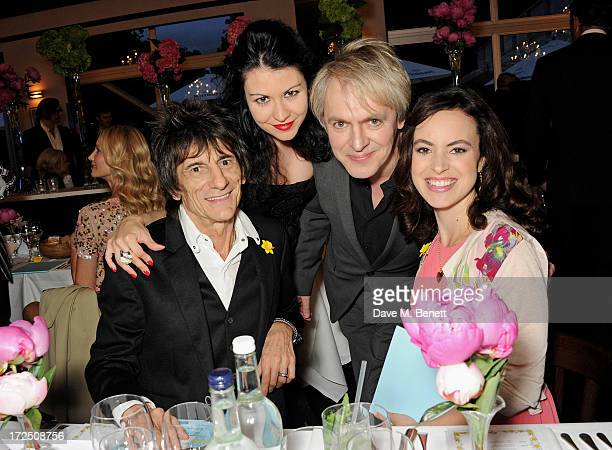 Ronnie Wood Nefer Suvio Nick Rhodes and Sally Wood attend The Masterpiece Midsummer Party in aid of Marie Curie Cancer Care hosted by Heather Kerzner...