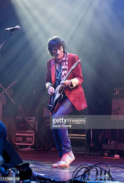 Ronnie Wood of The Faces performs on stage during the second day of Cornbury Festival on July 2 2011 in Oxford United Kingdom