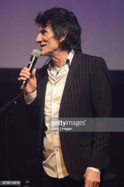 Ronnie Wood of The Rolling Stones accepts the award for Album Of The Year Public Vote for their album 'Blue Lonesome' at the Jazz FM Awards 2017 at...