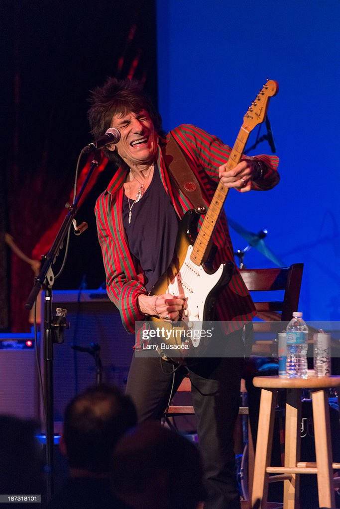 Ronnie Wood performs at The Cutting Room on November 7, 2013 in New York City. Ronnie Wood of the Rolling Stones made a rare club appearance at New York's premiere music venue and nightclub, The Cutting Room. Ronnie was performing the music of Jimmy Reed. Musical icons Mick Taylor, Al Cooper, Simon Kirk, Gary Clark Jr. and others joined him on stage.