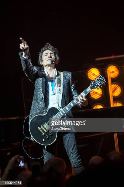 Ronnie Wood performs on stage at Symphony Hall on November 25 2019 in Birmingham England