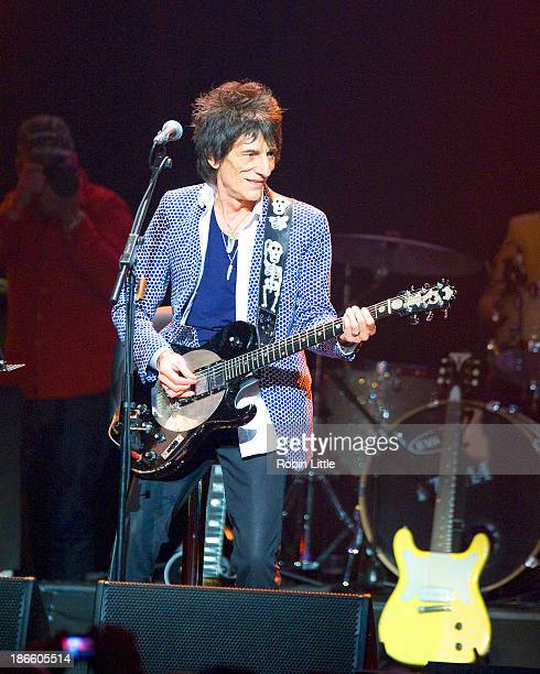 Ronnie Wood performs on stage during the final day of Bluesfest 2013 at Royal Albert Hall on November 1 2013 in London United Kingdom