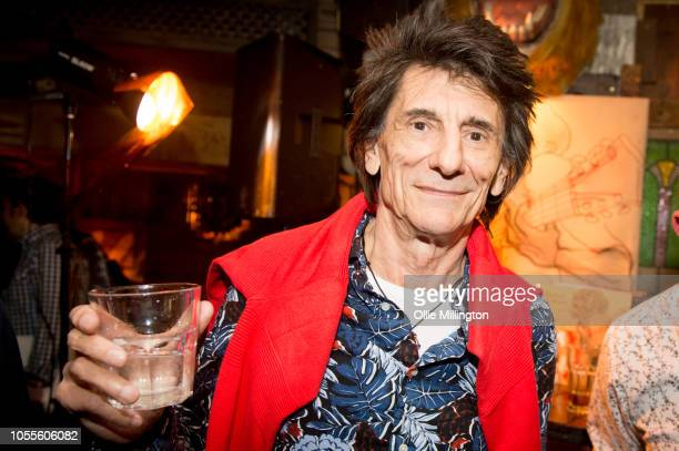 Ronnie Wood poses for a portrait after a QA session at the launch party for the Confessing The Blues album curated by The Rolling Stones at The Blues...