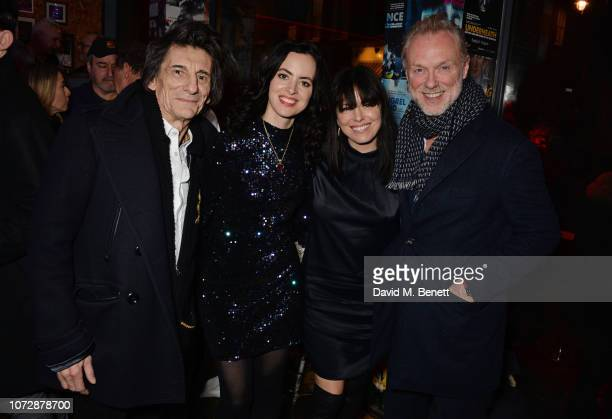 Ronnie Wood Sally Wood Imelda May and Gary Kemp attend the Opening Night after party for Chasing Bono at the Soho Theatre on December 13 2018 in...