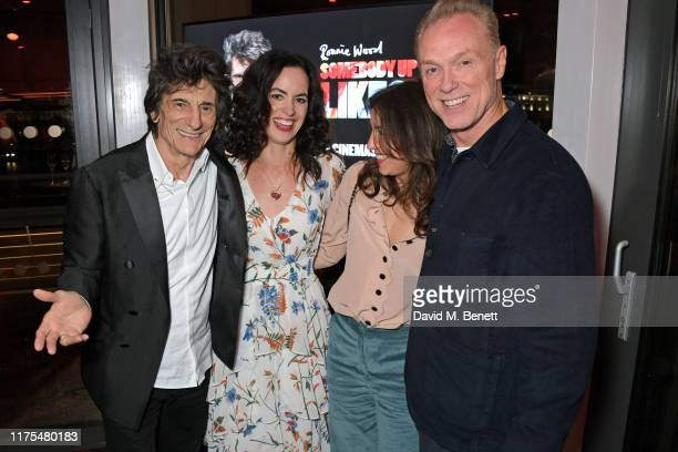 Ronnie Wood Sally Wood Lauren Kemp and Gary Kemp attend the World Premiere after party for Somebody Up There Likes Me during the 63rd BFI London Film...