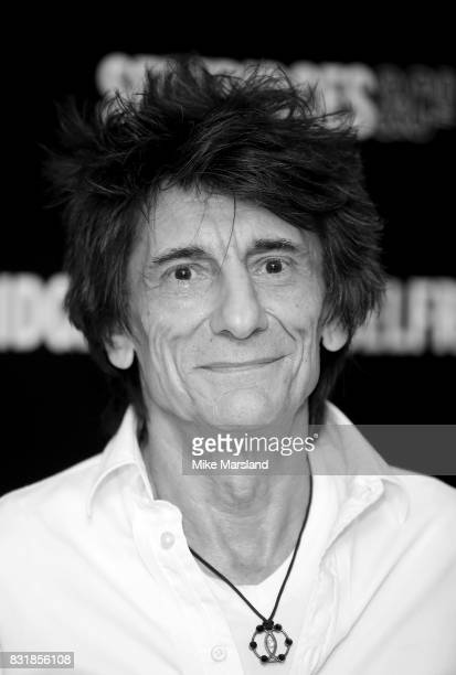 Ronnie Wood signs copies of his new book 'Ronnie Wood Artist' at Selfridges on August 15 2017 in London England