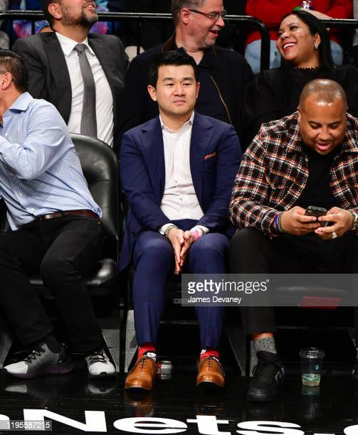 Ronny Chieng attends Los Angeles Lakers v Brooklyn Nets game at Barclays Center on January 23 2020 in New York City