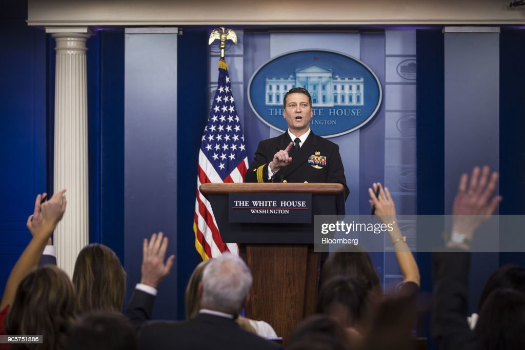 Presidential Physician Ronny Jackson Speaks During White House Press Briefing