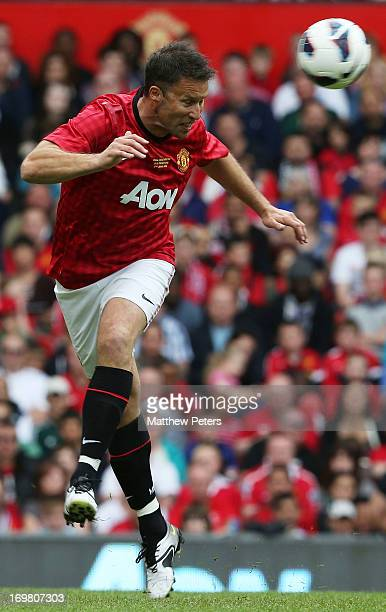 Ronny Johnsen in action for the MU Foundation Charity Legends match between Manchester United Legends and Real Madrid Legends at Old Trafford on June...
