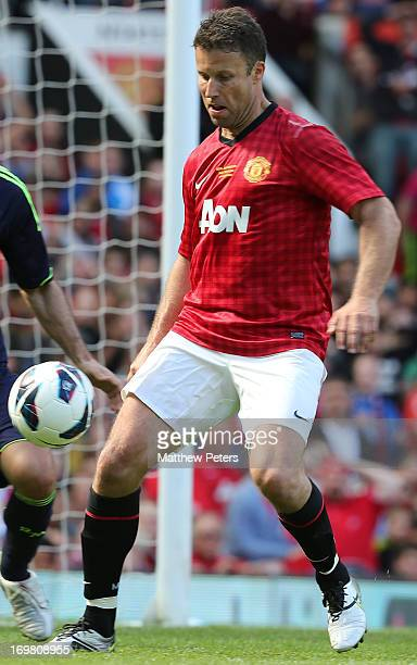 Ronny Johnsen of Manchester United in action during the MU Foundation Charity Legends match between Manchester United Legends and Real Madrid Legends...