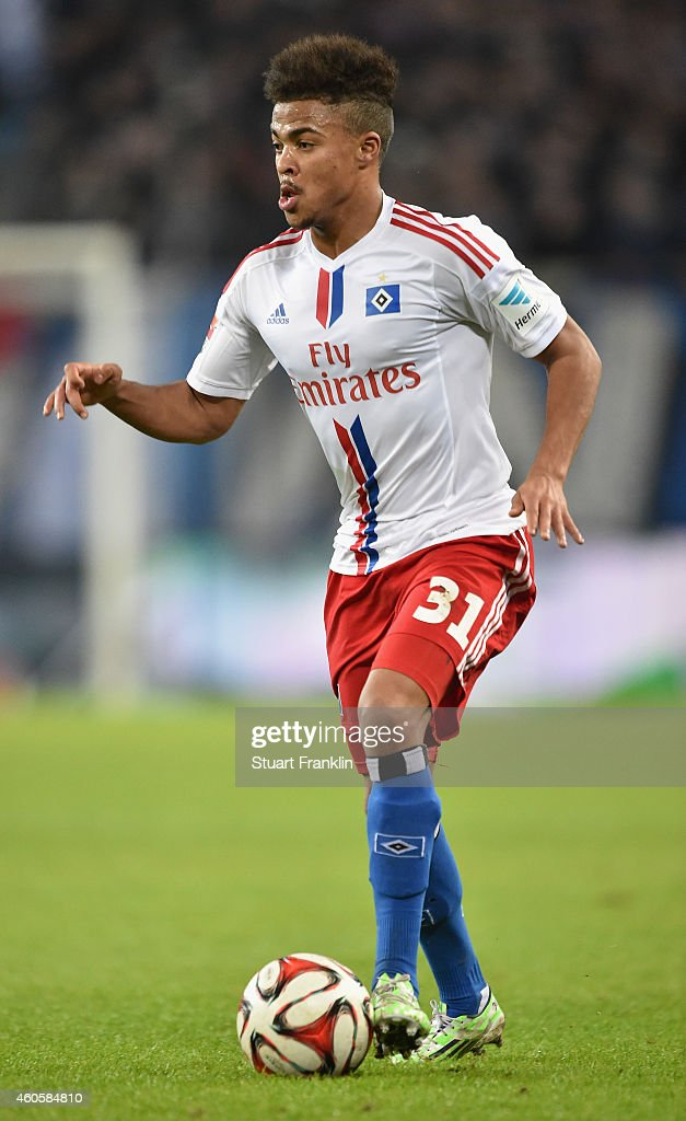 Ronny Marcos of Hamburg in action during the Bundesliga match between Hamburger SV and VfB Stuttgart at Imtech Arena on December 16, 2014 in Hamburg, Germany.