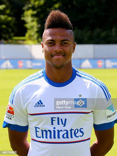 Ronny Marcos of Hamburger SV poses during the team presentation of Hamburger SV at Volksparkstadion on July 15 2015 in Hamburg Germany