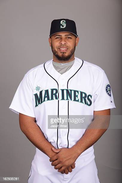 Ronny Paulino of the Seattle Mariners poses during Photo Day on February 19 2013 at Peoria Sports Complex in Peoria Arizona