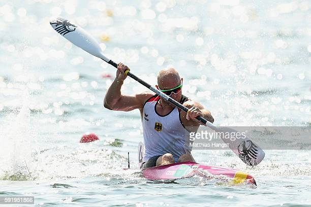 Ronny Rauhe of Germany competes in the Men's Kayak Single 200m on Day 14 of the Rio 2016 Olympic Games at the Lagoa Stadium on August 19 2016 in Rio...