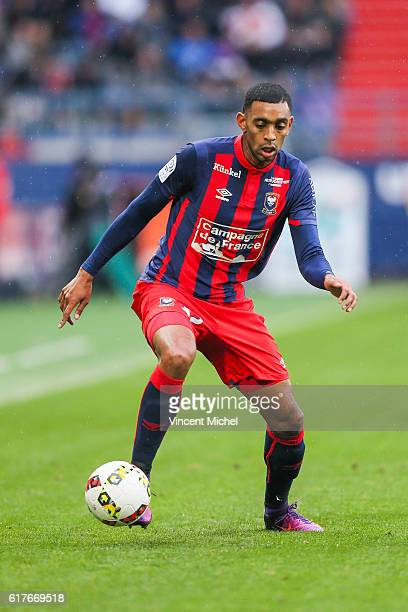 Ronny Rodelin of Caen during the Ligue 1 match between SM Caen and AS Saint-Etienne at Stade Michel D'Ornano on October 23, 2016 in Caen, France.