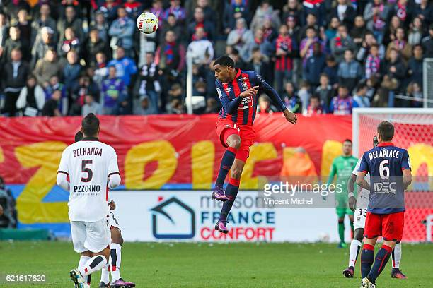 Ronny Rodelin of Caen during the Ligue 1 match between SM Caen and OGC Nice at Stade Michel D'Ornano on November 6, 2016 in Caen, France.
