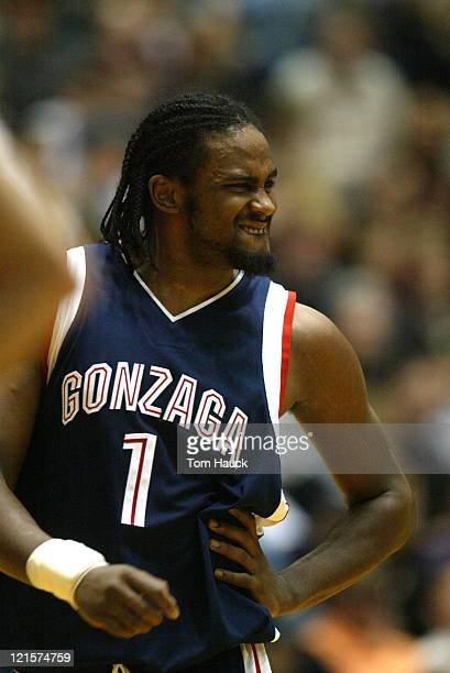 Ronny Turiaf of the Gonzaga Bulldogs The Gonzaga Bulldogs defeat the University of Portland Pilots 8065 at The Chiles Center in Portland Oregon