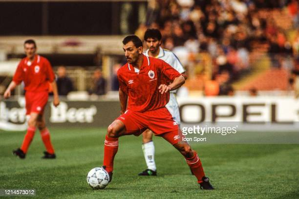 Ronny VAN RETHY of Royal Antwerp during the European Cup Winners Cup Final match between Parma and Royal Antwerp at Wembley Stadium London England...