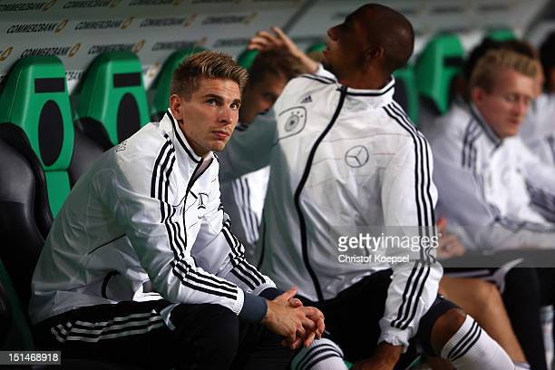 RonRobert Zieler of Germany looks thoughtful prior to the FIFA 2014 World Cup Qualifier group C match between Germany and Faeroe Islands at AWD Arena...