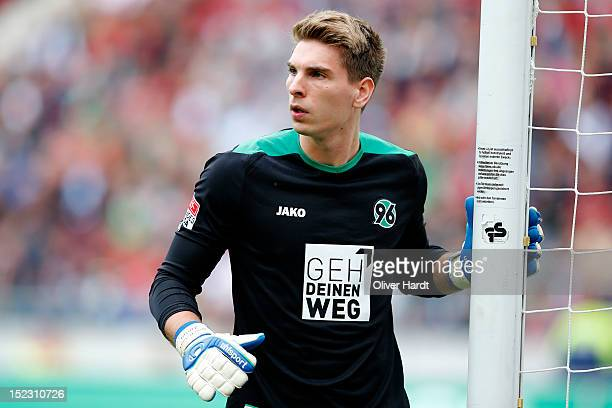 RonRobert Zieler of Hannover during the 1 Bundesliga match between Hannover 96 and Werder Bremen at AWD Arena on September 15 2012 in Hannover Germany
