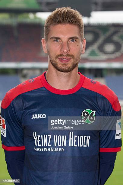 RonRobert Zieler poses during the team presentation of Hannover 96 at HDIArena on July 13 2015 in Hanover Germany