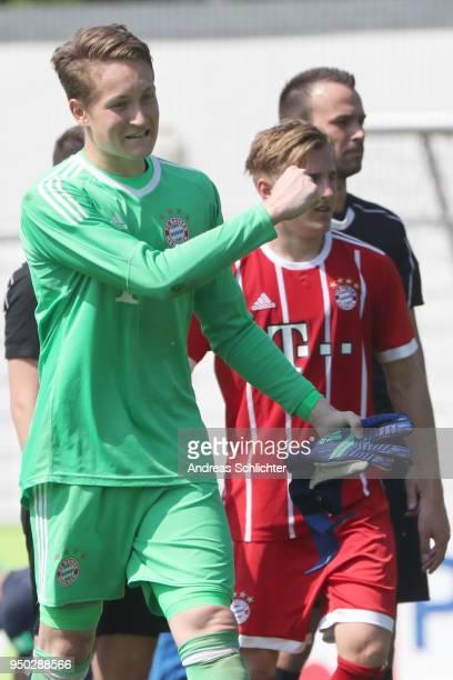 RonThorben Hoffmann of Bayern during the A Juniors German Bundesliga match between TSG 1899 Hoffenheim and Bayern Muenchen at DietmarHoppStadion on...