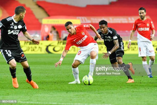 Rony Lopes of Monaco during the Ligue 1 match between AS Monaco and Amiens SC at Stade Louis II on April 28 2018 in Monaco