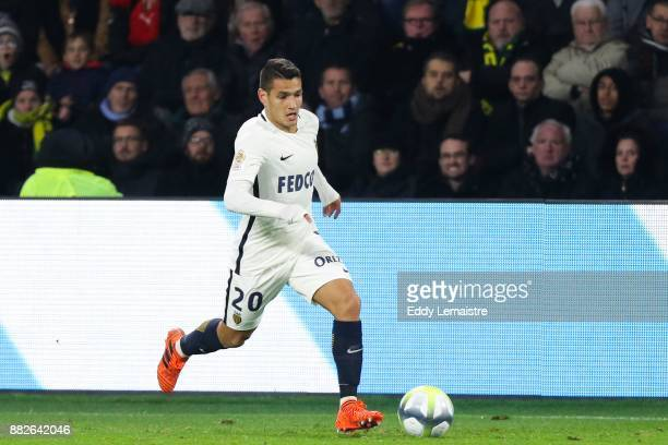 Rony Lopes of Monaco during the Ligue 1 match between FC Nantes and AS Monaco at Stade de la Beaujoire on November 29 2017 in Nantes