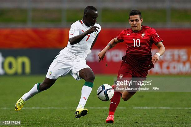 Rony Lopes of Portugal and Ibrahima Wadji of Senegal during the FIFA U20 World Cup New Zealand 2015 Group C match between Portugal and Senegal held...