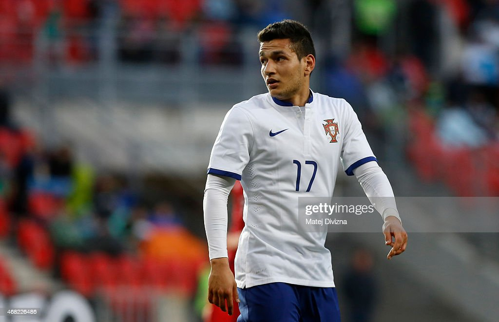 Rony Lopes of Portugal in action during the international friendly match between U21 Czech Republic and U21 Portugal at Eden Stadium on March 31, 2015 in Prague, Czech Republic.