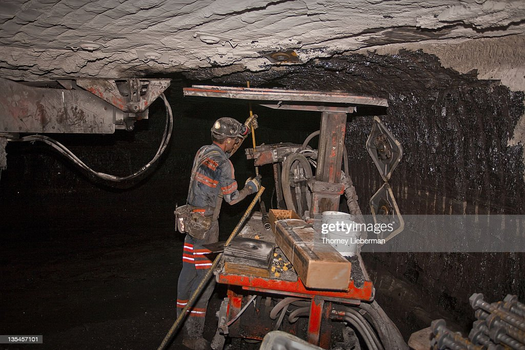 Roof Bolter In Coal Mine Stock Photo Getty Images