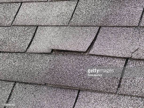 roof damage - damaged stock pictures, royalty-free photos & images