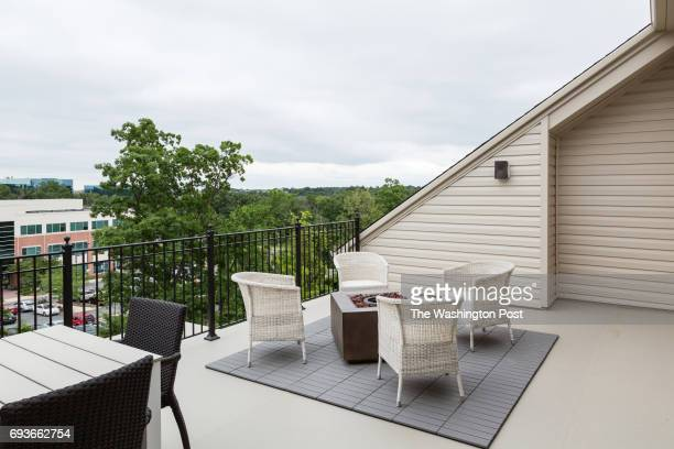 Roof Deck of the Bryant model home at Travilah Square on May 24 2017 in Rockville Maryland