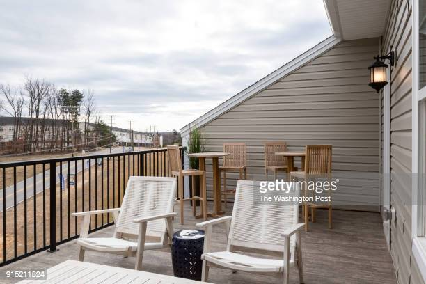 Roof Deck on the Ellicott model home at Spring Creek on January 24 2018 in Laurel Maryland