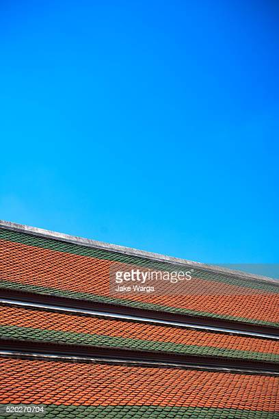 roof detail, grand palace, bangkok, thailand - jake warga stock photos and pictures