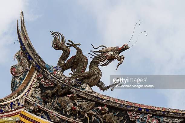 Roof dragon at the Confucius shrine, Nagasaki, Japan.