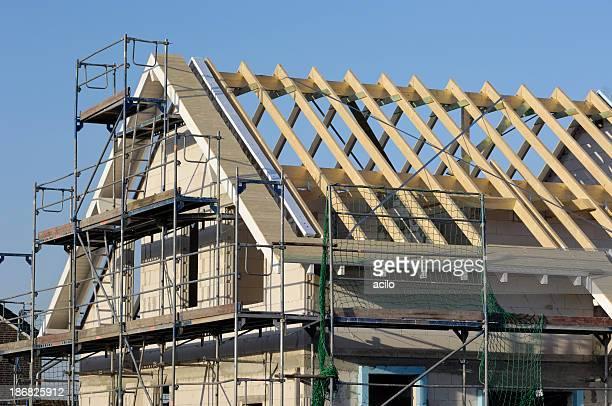 Dach Rahmen eines klassischen eine Familie house
