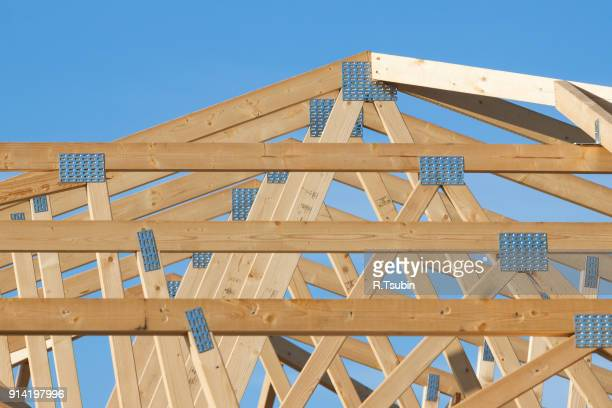 Roof framing for new home