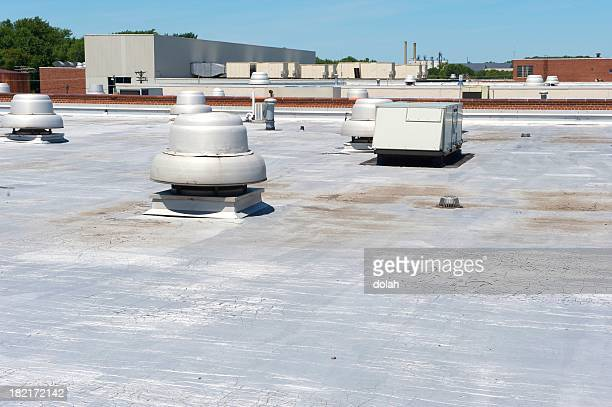 roof of a building - consumentisme stockfoto's en -beelden