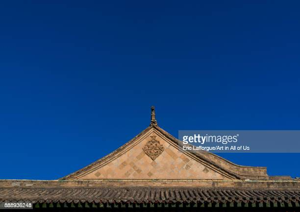 Roof of Dong Gong Guan mansion Gansu province Linxia China on November 1 2017 in Linxia China