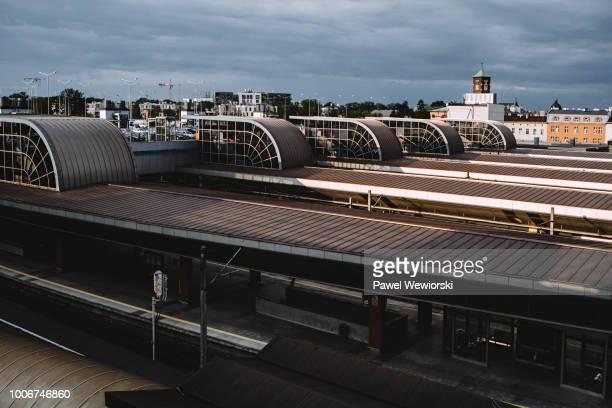 roof of kraków główny train station, krakow, poland - kraków ストックフォトと画像