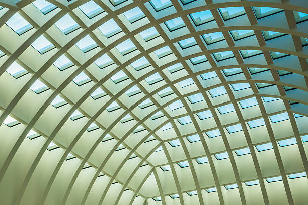 Roof of modern shopping mall