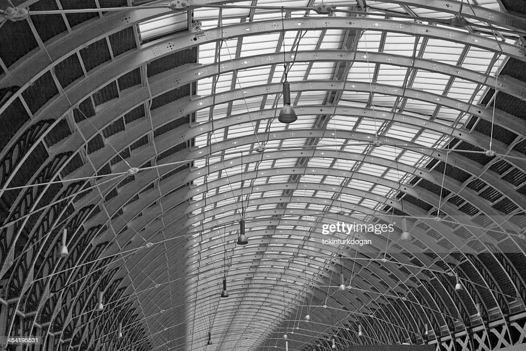 roof of the paddington train station at london england : Stock Photo
