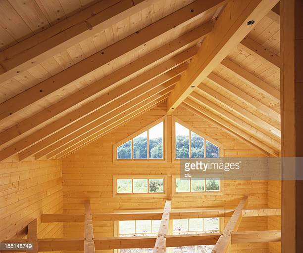 Roof of wooden house
