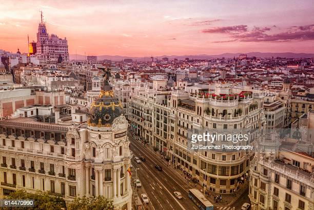 roof - madrid stock pictures, royalty-free photos & images