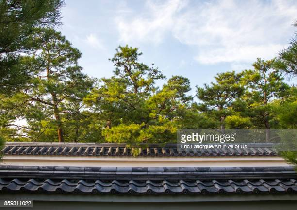 Roof tile in Kokoen garden Hypgo Prefecture Himeji Japan on August 20 2017 in Himeji Japan