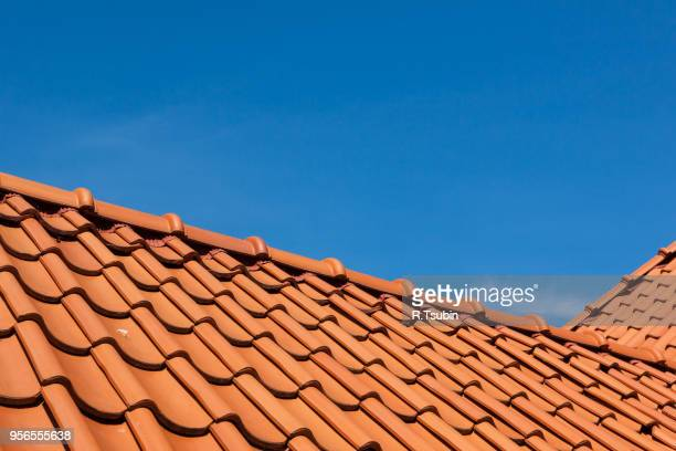 roof tile pattern, close up - roof tile stock pictures, royalty-free photos & images