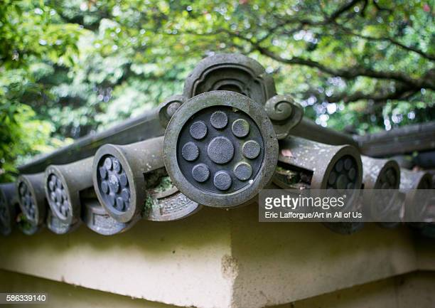 Roof tiles on a temple in daitokuji kansai region kyoto Japan on May 26 2016 in Kyoto Japan