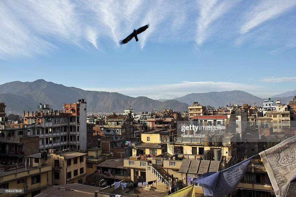 Roof top view, Kathmandu : Stock Photo
